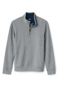 Men's Bedford Rib Heathered Quarter Zip Sweater