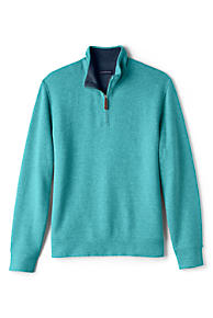 ce98421e5f Men s Bedford Rib Heathered Quarter-Zip Mock Pullover