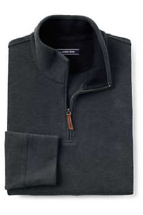 Men's Bedford Rib Heathered Quarter Zip Sweater, alternative image