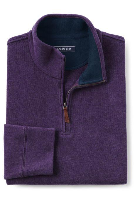 Men's Bedford Rib Heathered Quarter Zip Sweater