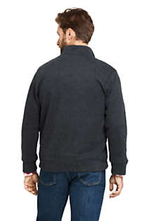 Men's Bedford Rib Heathered Quarter Zip Sweater, Back