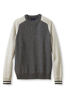 Lambswool-Pullover im Colorblock-Design