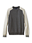 Men's Regular Slim Fit Lambswool Colourblock Sweatshirt