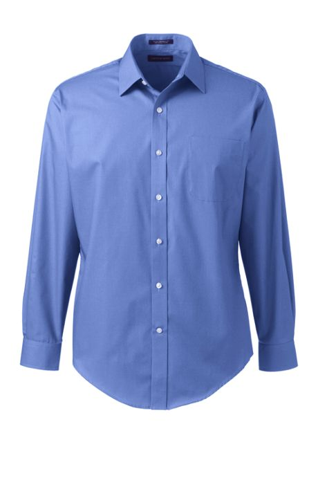 Men's Tailored Fit Long Sleeve Straight Collar Perfect Dress Shirt