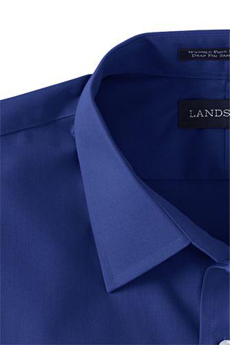 Men's Big and Tall Long Sleeve Straight Collar Perfect Dress Shirt