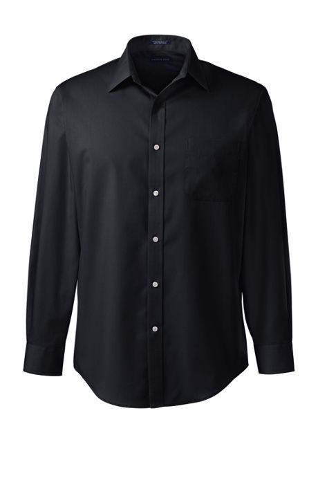 Men's Long Sleeve Straight Collar Perfect Dress Shirt