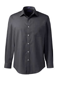 Men's Big Long Sleeve Straight Collar Perfect Dress Shirt