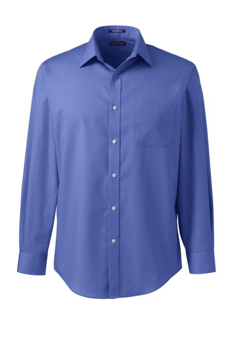 Men's Big and Tall Long Sleeve Straight Collar Perfect Dress Shirt