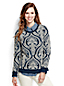 French Terry-Sweatshirt mit Flockprint-Ornamenten