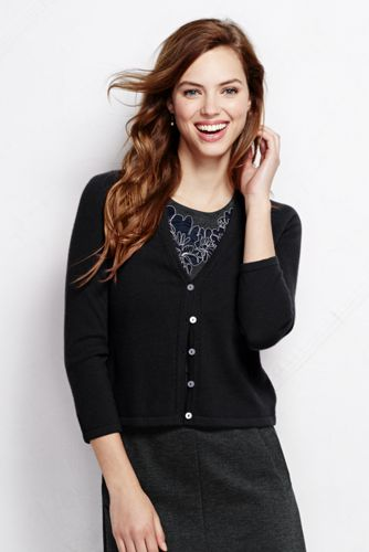 Women's Regular Cashmere Dress Cardigan