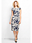 Women's Regular Printed Velvet Shift Dress