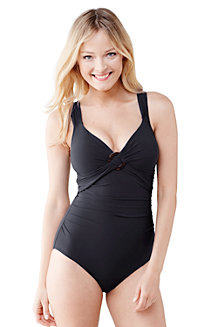 Women's Shape and Enhance Ring Front Swimsuit