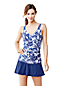 Women's Regular Shape and Enhance Floral Wrap Tankini Top