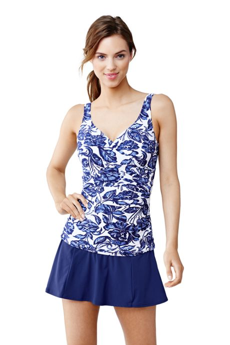 Women's Shaping Wrap Tankini Swimsuit Top