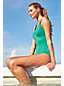 Women's Regular Embroidered Tugless Swimsuit with soft cup bra
