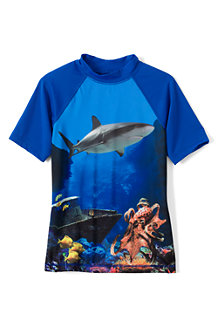 Boys' Short Sleeve Patterned Rash Guard Top
