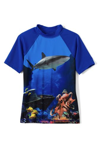 Toddler Boys' Short Sleeve Patterned Rash Vest