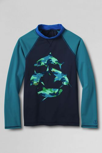 Boys' Long Sleeve Graphic Rash Guard Top