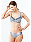 Beach Living besticktes Bikini-Top gestreift