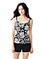 Women's Regular A-C Cup Beach Living Scoop Neck Tankini Top - Kinetic Floral