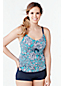 Women's Plus A-C Cup Beach Living Scoop Neck Tankini Top - Kinetic Floral