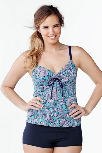 Beach Living Tankini-Top Floral in Plusgröße