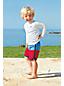 Little Boys' Colourblock Swim Shorts with Curved Hem