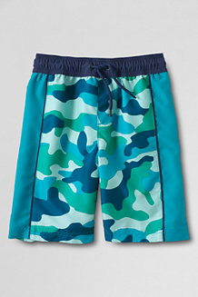 Boys' Pattern Side Pieced Swim Trunks