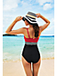 Women's Regular Coastal Spirit Colourblock Sweetheart Tankini Top