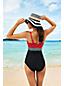 Women's Regular Coastal Spirit Colourblock Sweetheart Tankini Top