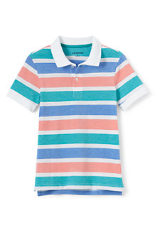 Boys' Oxford Stripe Piqué Polo