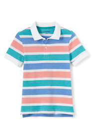 Boys Husky Oxford Stripe Mesh Polo