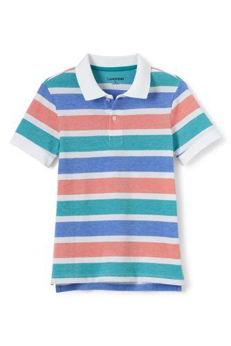 Toddler Boys' Oxford Stripe Piqué Polo
