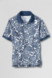 Boys' Patterned Piqué Polo