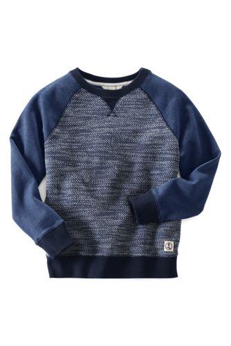 Colorblock-Sweatshirt mit Bouclé-Einsatz für große Jungen