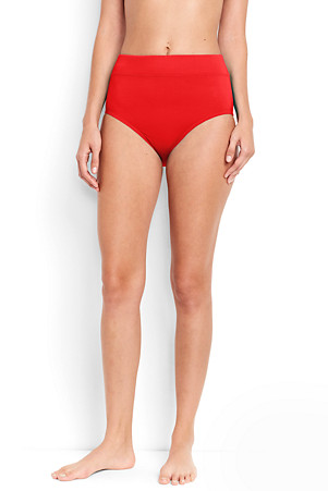 6e41db95af4d7 Women's Beach Living High Waist Tummy Control Bikini Botto | Lands' End
