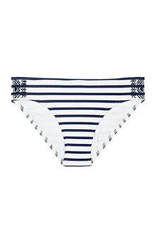 Le Bas de Bikini Taille mi-haute Brodé Ajustable Beach Living