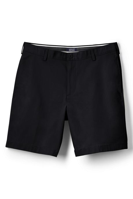 Men's Traditional Plain Front 9 Inch Chino Shorts
