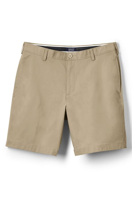 Men's Big Traditional Plain Front 9' Chino Shorts