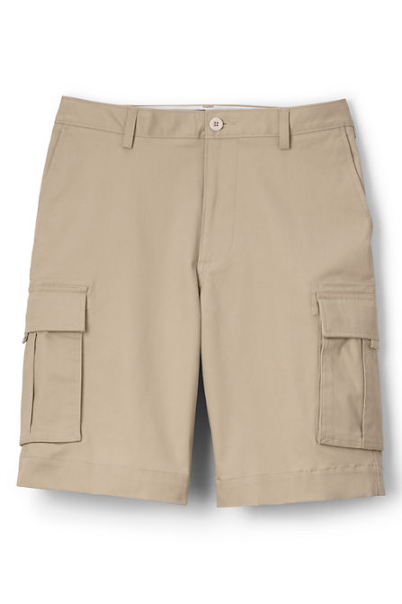 Mens Cargo Chino Shorts - 32 - Grey Lands End unvEh