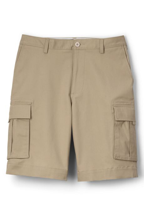 Men's Plain Front Cargo Shorts
