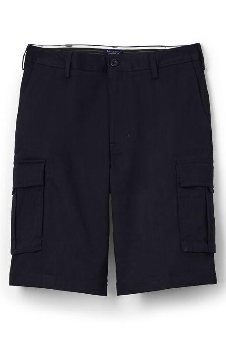 Men's Plain Front Cargo Shorts