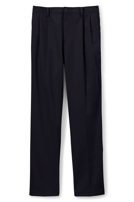 Men's Big Traditional Fit Pleat Chino Pants