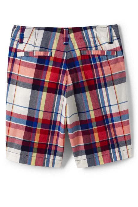 Boys Husky Plaid Chino Cadet Shorts