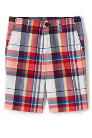 Boys Slim Plaid Cadet Shorts