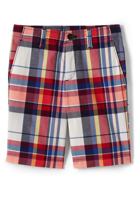 Boys Plaid Chino Cadet Shorts
