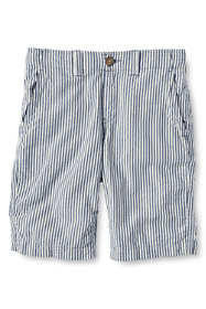 School Uniform Boys Husky Seersucker Cadet Shorts