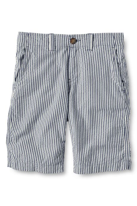 School Uniform Little Boys Slim Seersucker Cadet Shorts