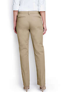 Women's Plus Size Plain Straight Leg Chino Pants, Back