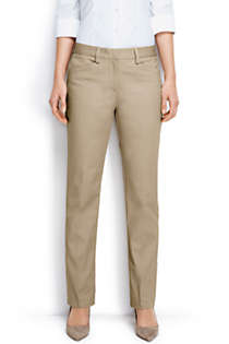 Women's Plus Size Plain Straight Leg Chino Pants, Front